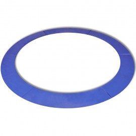 Alfombrilla de seguridad de cama elástica redonda 3,96m azul PE