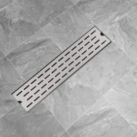 Desagüe lineal de ducha 530x140 mm acero inoxidable