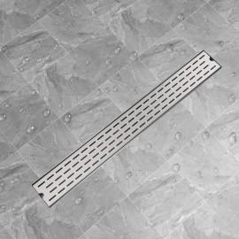Desagüe lineal de ducha líneas 930x140 mm acero inoxidable