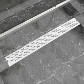 Desagüe lineal de ducha ondas 930x140 mm acero inoxidable