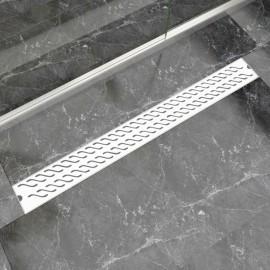 Desagüe lineal de ducha ondas 1030x140 mm acero inoxidable