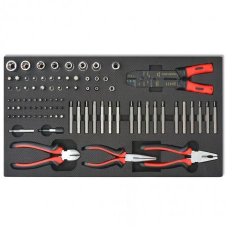 Carrito de herramientas 1125 herramientas acero rojo