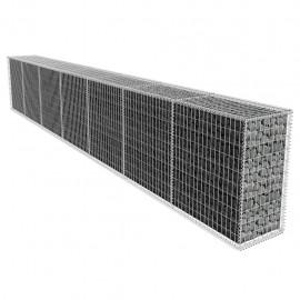 Muro de gaviones con cubierta 600x50x100 cm