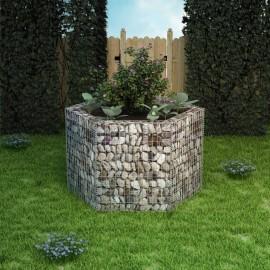 Jardinera hexagonal de gaviones 160x139x100 cm