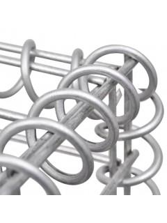 Cesta/jardinera/arriate de gaviones de acero 300x30x50 cm