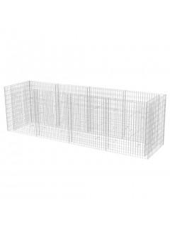 Jardinera de gaviones de acero 360x90x100 cm