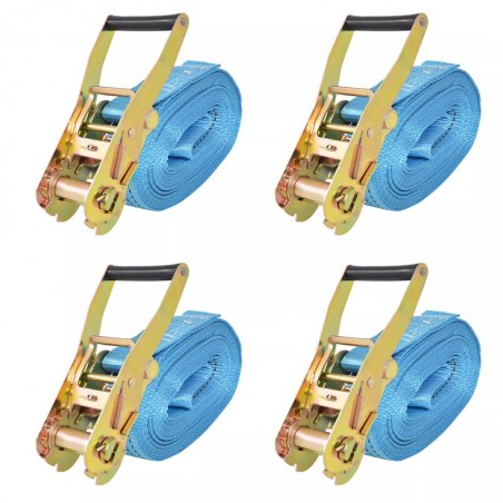 Correas de sujeción de trinquete 4 uds 4T 8mx50mm azul