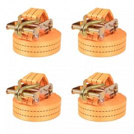 Correas de sujeción de trinquete 4 uds 1 T 6mx38mm naranja