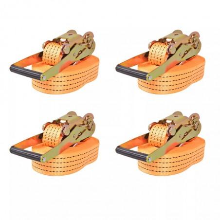 Correas de sujeción de trinquete 4 uds 2T 8mx50mm naranja