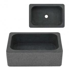 Lavabo 45x30x15 cm de piedra de río negro