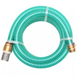 Manguera de succión con conectores de latón 3 m 25 mm verde