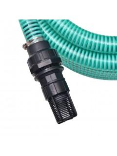 Manguera de succión con conectores 4 m 22 mm verde