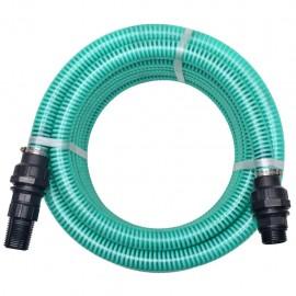 Manguera de succión con conectores 7 m 22 mm verde