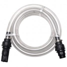 Manguera de succión con conectores 7 m 22 mm blanca