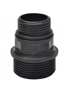 Manguera de succión con conectores 4 m 22 mm negra