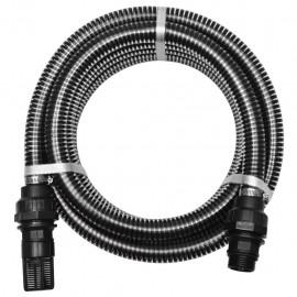 Manguera de succión con conectores 7 m 22 mm negra