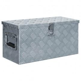 Caja de aluminio 61,5x26,5x30 cm plateada
