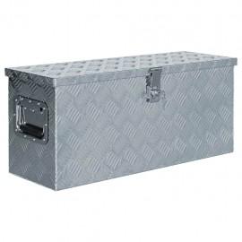 Caja de aluminio 76,5x26,5x33 cm cm plateada