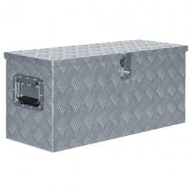 Caja de aluminio 80x30x35 cm plateada