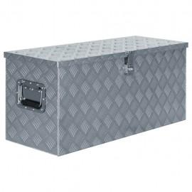 Caja de aluminio 90,5x35x40 cm plateada