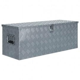 Caja de aluminio 110,5x38,5x40 cm plateada