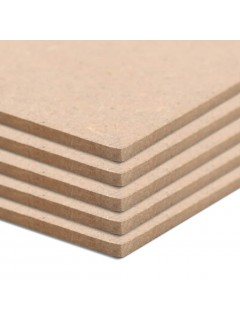 Láminas de MDF cuadradas 10 unidades 60x60 cm 2,5 mm