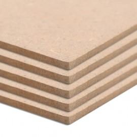 Láminas de MDF rectangulares 5 unidades 120x60 cm 2,5 mm