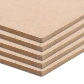 Láminas de MDF cuadradas 4 unidades 60x60 cm 12 mm