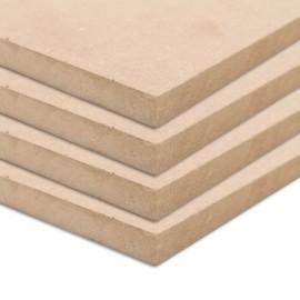 Láminas de MDF cuadradas 4 unidades 60x60 cm 25 mm