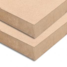 Láminas de MDF rectangulares 2 unidades 120x60 cm 25 mm
