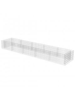 Jardinera de gaviones de acero 450x90x50 cm