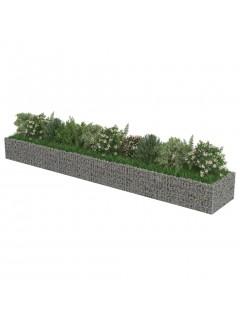 Jardinera de gaviones de acero 540x90x50 cm