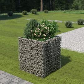 Jardinera de gaviones de acero 90x90x100 cm