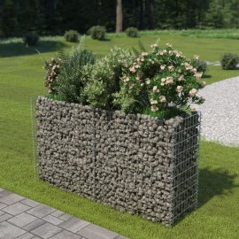 Jardinera de gaviones de acero 180x50x100 cm