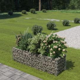 Jardinera de gaviones de acero 180x50x50 cm
