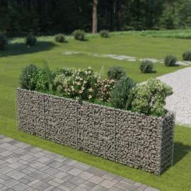 Jardinera de gaviones de acero 360x50x100 cm