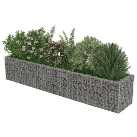 Jardinera de gaviones de acero galvanizado 270x50x50 cm