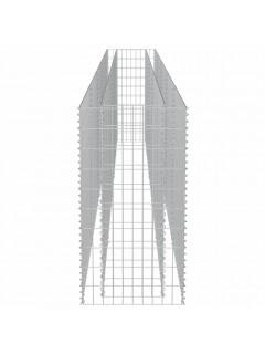 Jardinera de gaviones de acero 450x50x100 cm