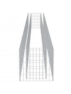 Jardinera de gaviones de acero 450x50x50 cm