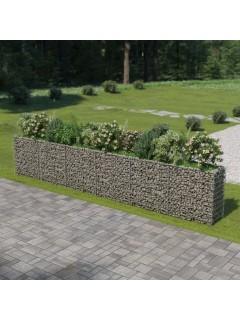 Jardinera de gaviones de acero 540x50x100 cm