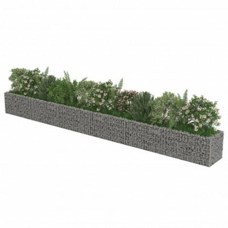 Jardinera de gaviones de acero 540x50x50 cm