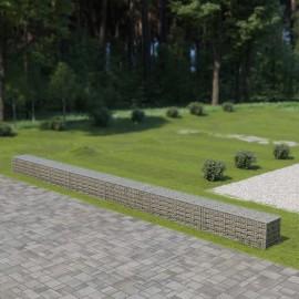 Muro de gaviones con cubiertas acero galvanizado 900x50x50 cm