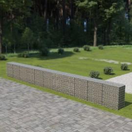 Muro de gaviones con cubiertas acero galvanizado 900x50x100 cm