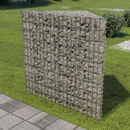 Jardinera de gaviones de acero galvanizado 75x75x100 cm