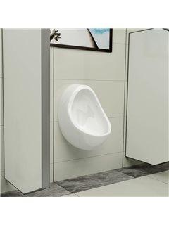 Urinario de pared con válvula de descarga cerámica blanco