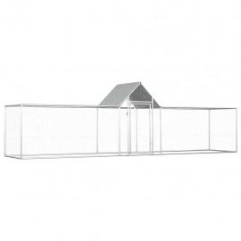 Gallinero de acero galvanizado 5x1x1,5 m
