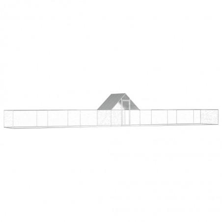 Gallinero de acero galvanizado 14x2x2 m