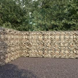 Muro de gaviones con cubiertas acero galvanizado 600x30x200 cm