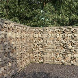 Muro de gaviones con cubierta acero galvanizado 300x50x200 cm