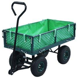 Carrito de mano de jardín verde 250 kg